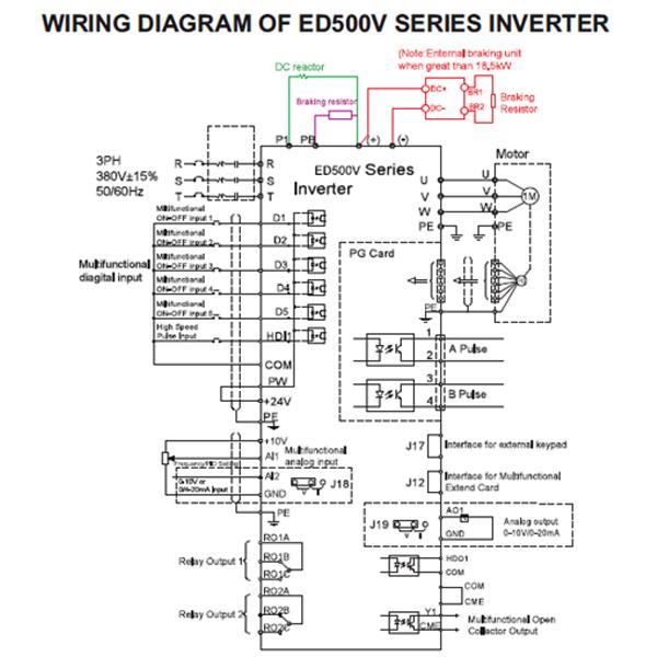 ED500V Inverter Wiring Diagram